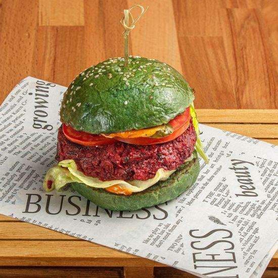 Vegan Green Beetroot Burger