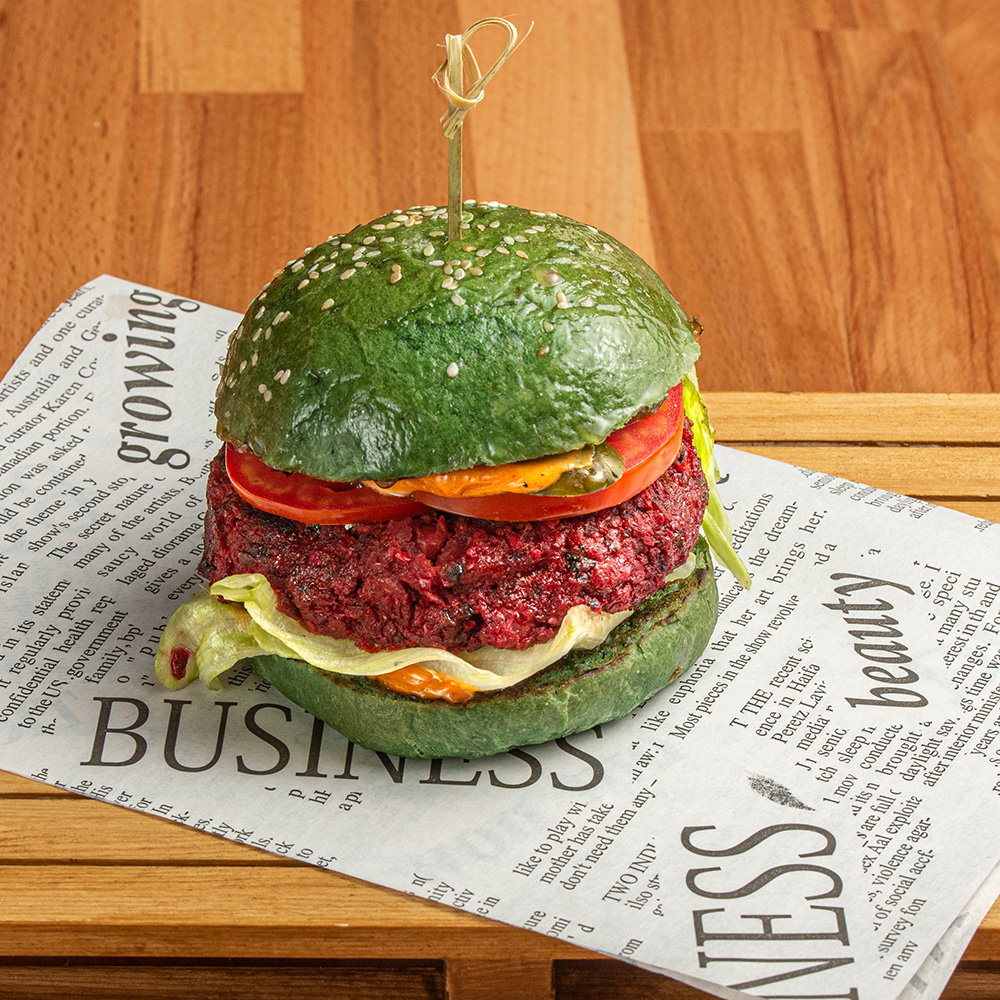 Vegan Green Beetroot Burger