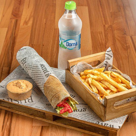 Vegan Falafel Wrap Menu