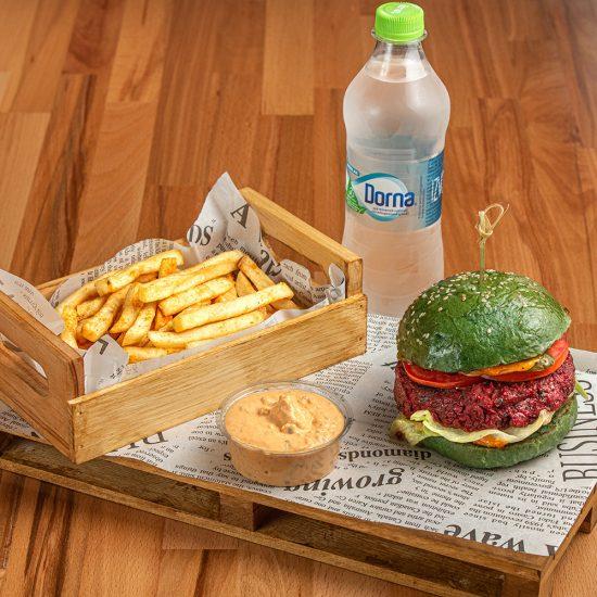 Vegan Green Beetroot Burger - Menu